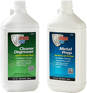 POR-15 Quart Cleaning Kit with Marine Clean Degreaser & Metal Ready Surface Prep Solution