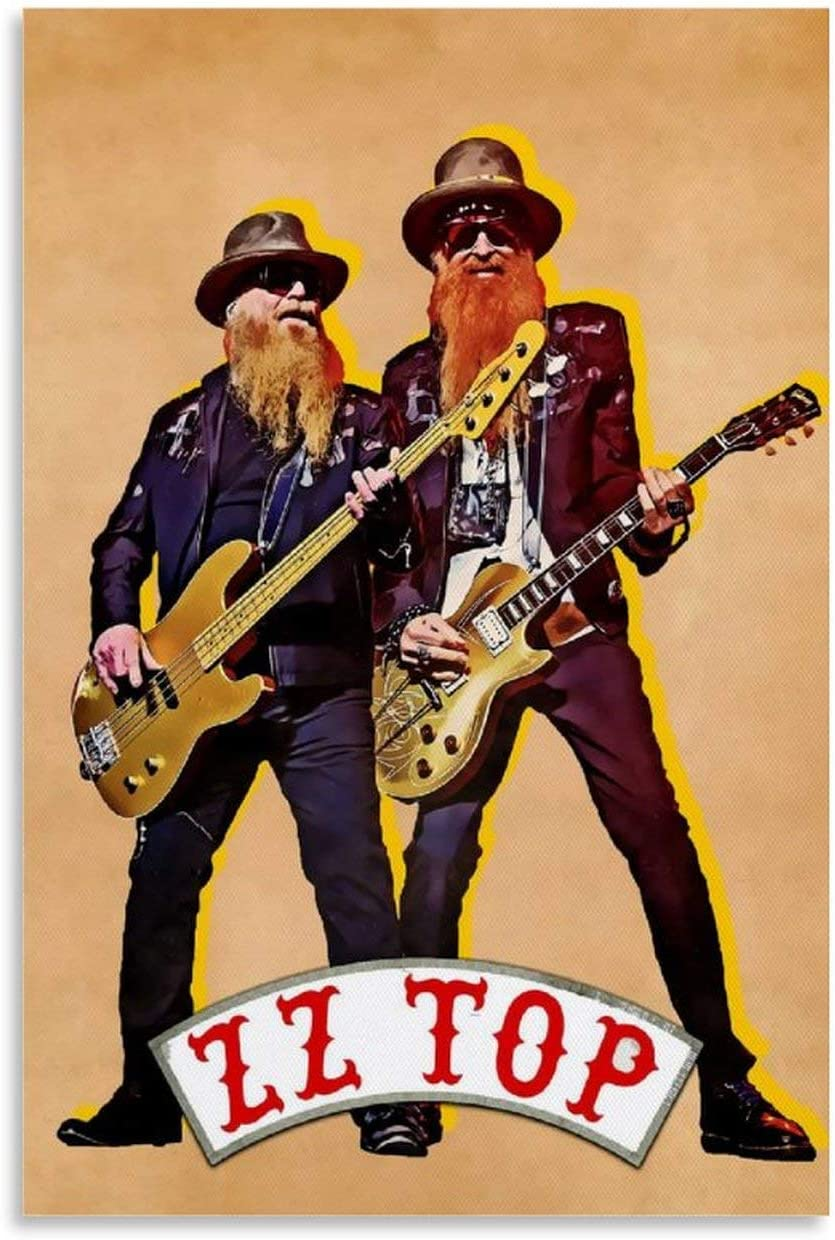ZZ Top Poster ft. Dusty Hill and Billy Gibbons
