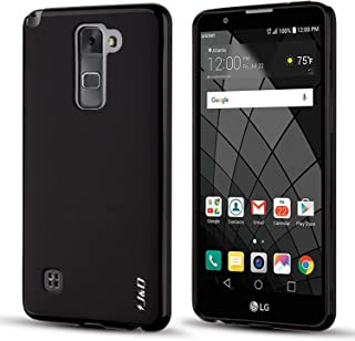 J&D Case Compatible for LG Stylus 2/LG Stylo 2/LG Stylo 2V/LG Stylo 2 Plus Case, [Drop Protection] [Slim Cushion] Shockproof Protective TPU Slim Case for LG Stylus 2 Stylo 2V Bumper Case - Black