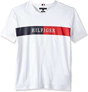 Tommy Hilfiger Men's Block Stripe Hilfiger Tee T-Shirt