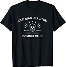 Mens Old Man Jiu Jitsu Combat Club BJJ Shirt Martial Arts MMA