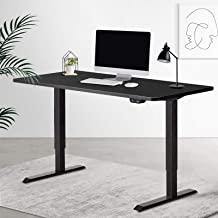Artiss 140cm Motorised Electric Height Adjustable Standing Laptop Computer Desk Office All Black Roskos I