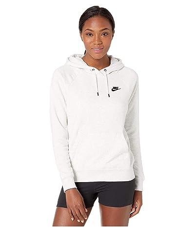 Nike NSW Essential Hoodie Pullover Fleece (Birch Heather/Black) Women