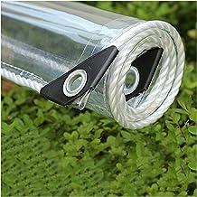 JIANFEI Transparant dekzeil dekzeil plastic afdekking, balkon tuin plantenafdekkingen, scheurvaste randversterkingsplanne...