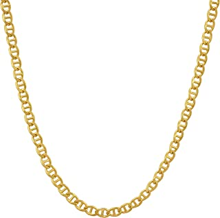 Lifetime Jewelry Gold Necklace for Women & Men [ 1.7mm Mariner Link Chain ] 20X More Real 24k Plating Than Other Statement Necklaces - Gold Chain with Lifetime Replacement Guarantee 16-30 inch