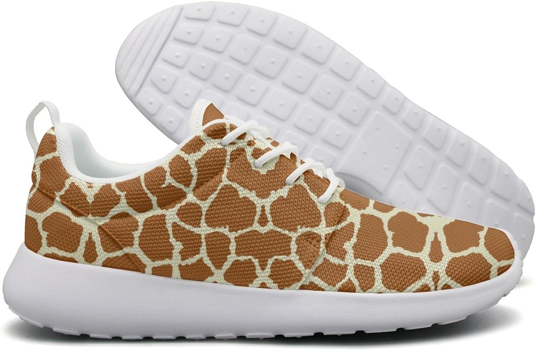 ERSER Brown Giraffe Skin Womens Brooks Running shoes Size