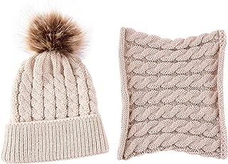 Brand Newest Baby Boy Girl Knit Girl Winter Warm Soft Hat Toddler Kid Beanie Crochet Cap+Scarf Cute Lovely 2Pcs Cap Scarf