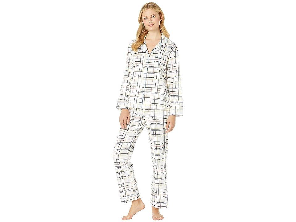 BedHead Pajamas Long Sleeve Classic Notch Collar Pajama Set (Modern Plaid) Women