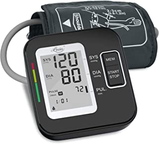 Blood Pressure Monitor for Upper Arm, LOVIA Accurate Automatic Digital BP Machine for Home Use & Pulse Rate Monitoring Meter with Cuff 22-40cm, 2�120 Sets Memory,(BP Monitor New)