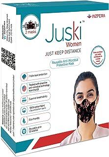 Juski Reusable Anti-Microbial Protective Mask for Women (2 masks)