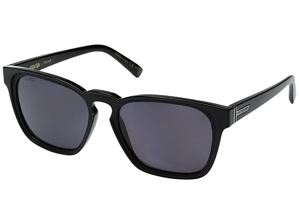 VonZipper Levee Polar (Black Gloss/Wild Vintage Grey Polar) Sport Sunglasses