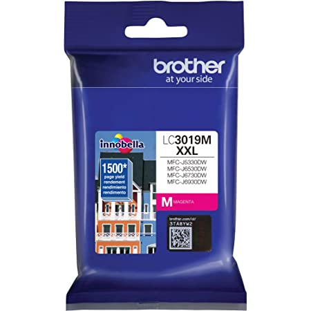 Brother Super High Yield Ink Cartridge Magenta 1 Pack LC3019M