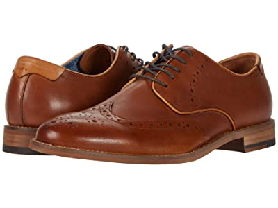 Johnston & Murphy Milliken Wing Tip (Tan Full Grain) Men