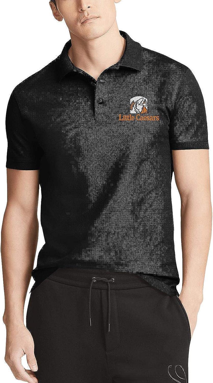 Men Black Short Minneapolis Mall Sleeves Little-Caesar-Stuf T-Shirt SALENEW very popular! Collared Polo