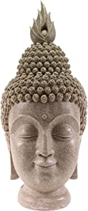 """We pay your sales tax Smiling Meditating Buddha Shakyamuni Head Statue Large 15"""" Tall Blessing Mercy & Love G16274"""