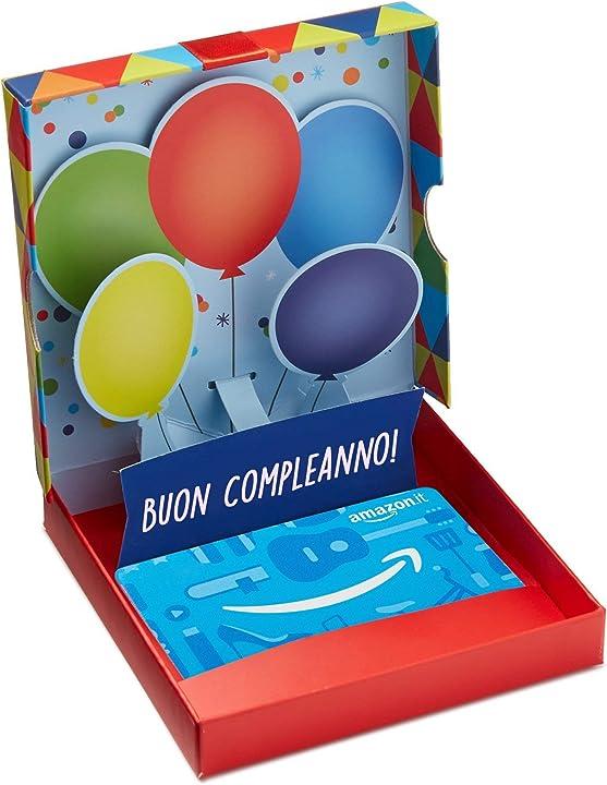 Buono amazon per regalo -  cofanetto compleanno pop up B07QXYRT9K