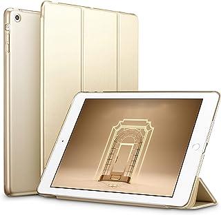 ESR iPad Mini ケース クリア iPad Mini2 ケース iPad Mini3 ケース 軽量 スタンド機能 傷つけ防止 オートスリープ ハード三つ折 iPad Mini3 Mini2 Mini1 専用 スマートカバー(ゴールド)