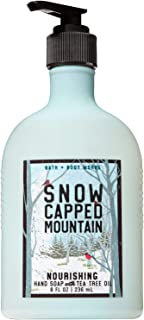 Bath and Body Works SNOW CAPPED MOUNTAIN Hand Soap with Tea Tree Oil 8 Fluid Ounce (2018 Edition)