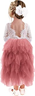 Best dusty rose tulle flower girl dress Reviews