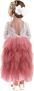 dusty rose tulle flower girl dress