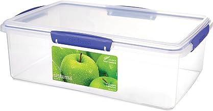 Sistema Klip It 7 Litre Klip It Rectangle Food Storage Container, Clear