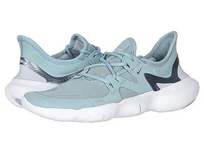 Nike Free RN 5.0 (Ocean Cube/Metallic Cool Grey/Pure Platinum) Women