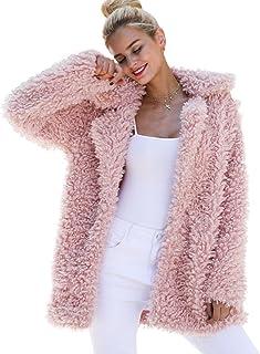 BerryGo Women's Shaggy Long Faux Fur Coat Jacket Outwear