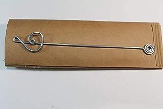 Segnalibro Chiave di Sol Argento,interamente realizzato a mano in alluminio e corredato di custodia in cartoncino,anch'ess...