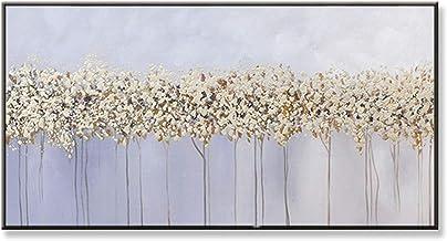 Handgeschilderd Olieverfschilderij - Modern Abstract Handgetekend Landschap Bloem Artbeautiful Olieverfschilderij Wit Pale...