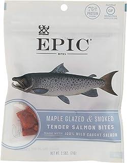 EPIC Salmon Jerky Bites, Maple Glazed (Gluten Free) 2.5oz (Pack of 8)