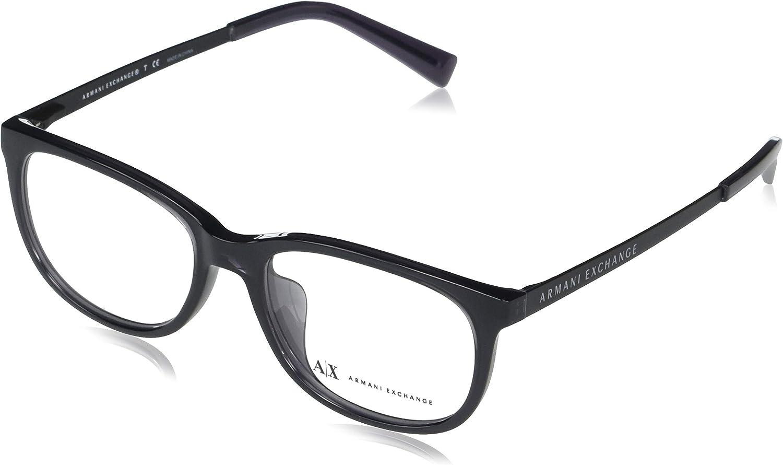 AX Armani Exchange Men's Max 61% OFF Chicago Mall Eyewear Prescription Rectangular Ax1018