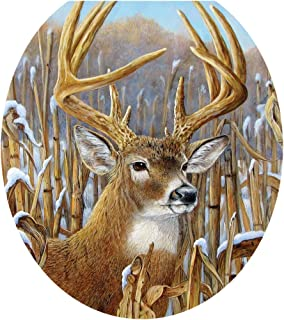 Toilet Tattoos, Toilet Seat Cover Decal,Crowning Glory Deer, Size Round/standard