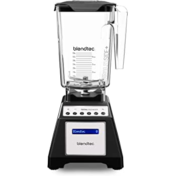 Blendtec Total Classic Original Blender - WildSide+ Jar (90 oz) - Professional-Grade Power - 6 Pre-programmed Cycles - 10-speeds - Black (Renewed)