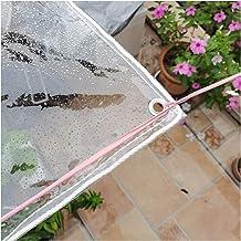 GYOWEI transparant zeildoek, 0,3 mm dik plastic plantenhoezen, balkonisolatie stofdicht regendicht tarp, aangepaste maat (...