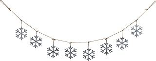 70 Inch Galvanized Metal Snowflake Garland Holiday Decoration