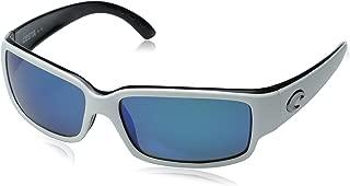 Costa Del Mar Caballito Polarized Sunglasses - Costa 580 Glass Lens Black White/Green Mirror, One Size