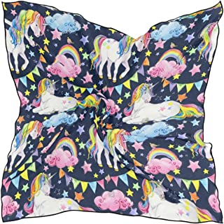 Scarf Wallpaper Mount Fuji Womens Square Silk Scarves Shawl Wrap for Lady Girls