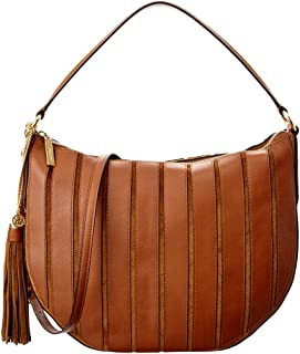 Women's Large Brooklyn Applique Convertible Suede Leather Top-Handle Bag Hobo