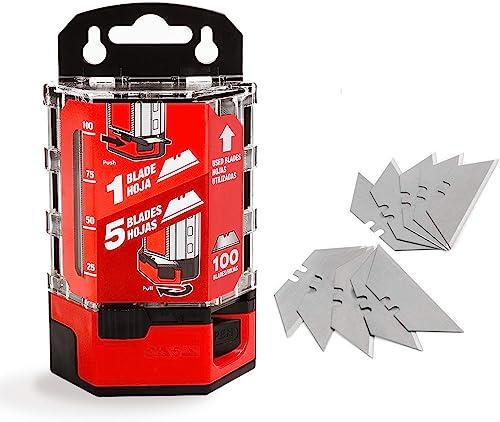 lowest Goldblatt 100-Pack Utility Blades Premium Tempered SK2M online sale Steel with Dispenser lowest (G08283) online sale
