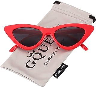 34966dc23c GQUEEN Gafas Vintage Clout Lentes de sol tipo ojo de gato Estilo a la moda y