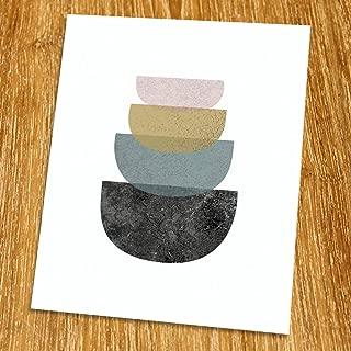 Modern Art Print (Unframed), Geometric Art, Abstract Art Poster, Mid-century Art, Cafe, Industrial, Loft, Bowl Art, Kitchen Art Print, 8x10