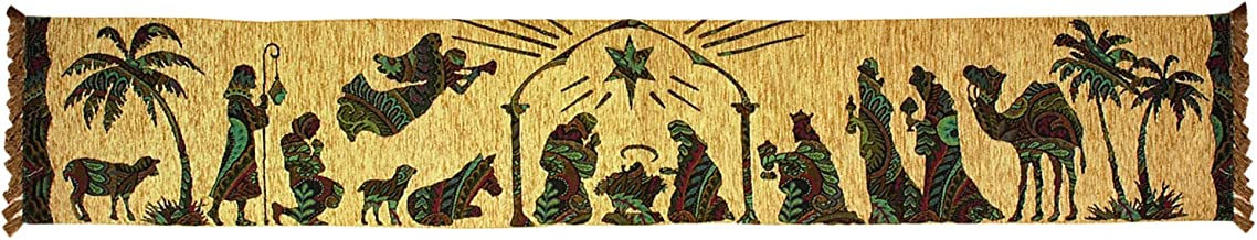 Manual Woodworkers & Weavers Table Runner, Away in A Manger