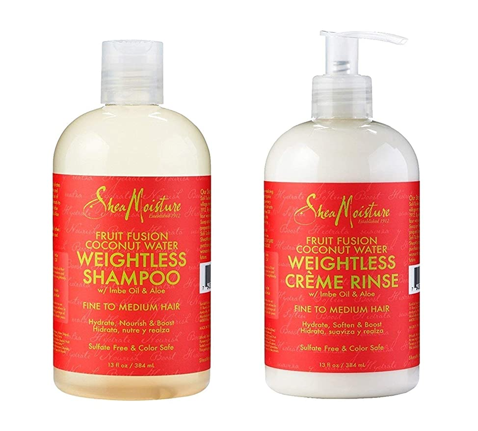 Shea Moisture Fruit Infused Coconut Water Weightless Shampoo and Creme Rinse