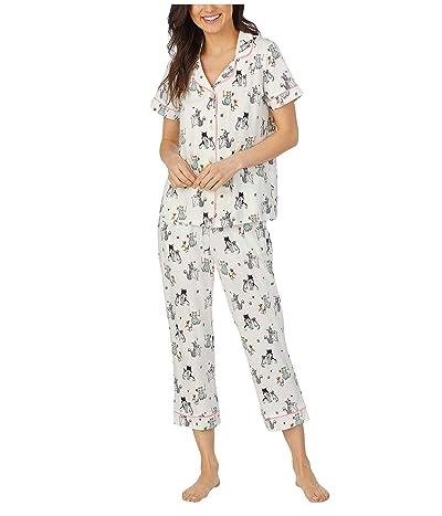 BedHead Pajamas Short Sleeve Cropped Pajama Set (Baked with Love) Women