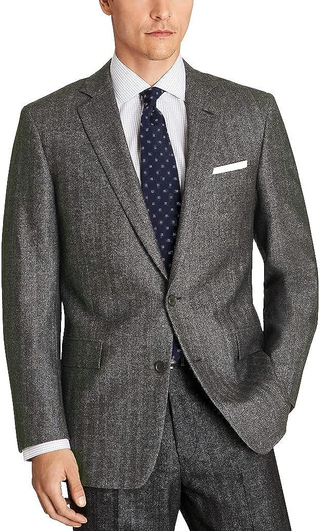 Brooks Brothers Men's 144123 Explorer Regent Fit Herringbone Sport Coat, Natural Brown