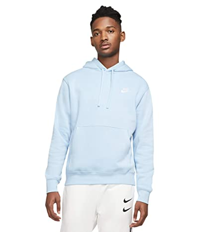 Nike NSW Club Hoodie Pullover (Psychic Blue/Psychic Blue/White) Men