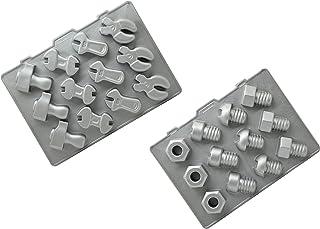 硅胶金色模具,硅胶,灰色,28 x 20 x 10 厘米,2 件装