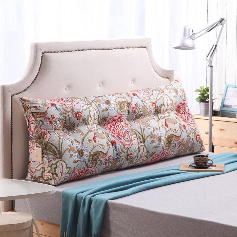 JIANHEADS coin de lit triangulaire, canapé Tapis de coussin à l'arrière Coussin Oreiller d'appui pour le dossier (Couleur   N, Taille   200x22x50cm(79x9x20inch))