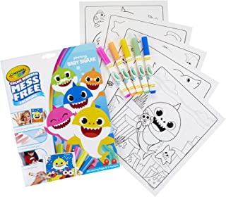 Crayola Baby Shark Color Wonder Coloring Pages, Mess Free Coloring, Gift for Kids, Age 3, 4, 5, 6