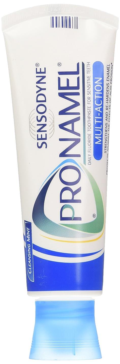カビ以上ペリスコープSENSODYNE PRONAMEL 歯のエナメル質を強化するためのPronamel練り歯磨き、マルチアクション、クレンジングミント、4オンス